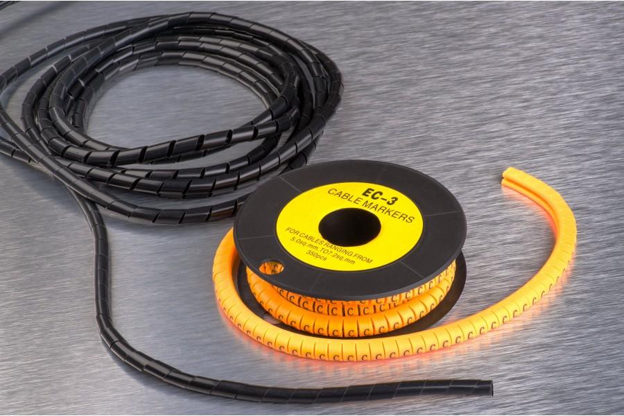 Спіральна обв'язка і маркери кабельні