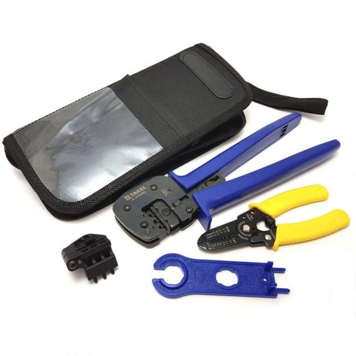 Комплект інструментів №1 для конекторів МС-4 із зачистом проводів