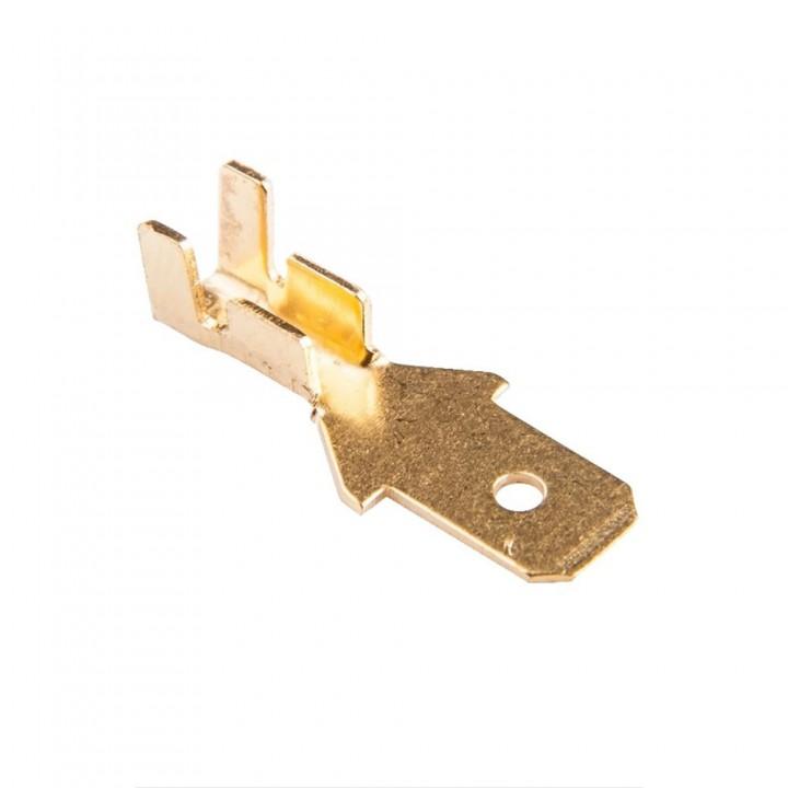 Конектор плоский без ізоляції DJ611-4.8A роз'єм папа