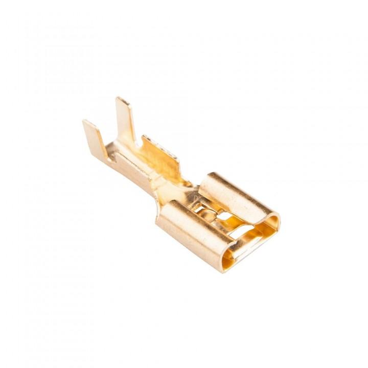 Конектор плоский без ізоляції DJ623-6.3A (0.3 мм) роз'єм мама