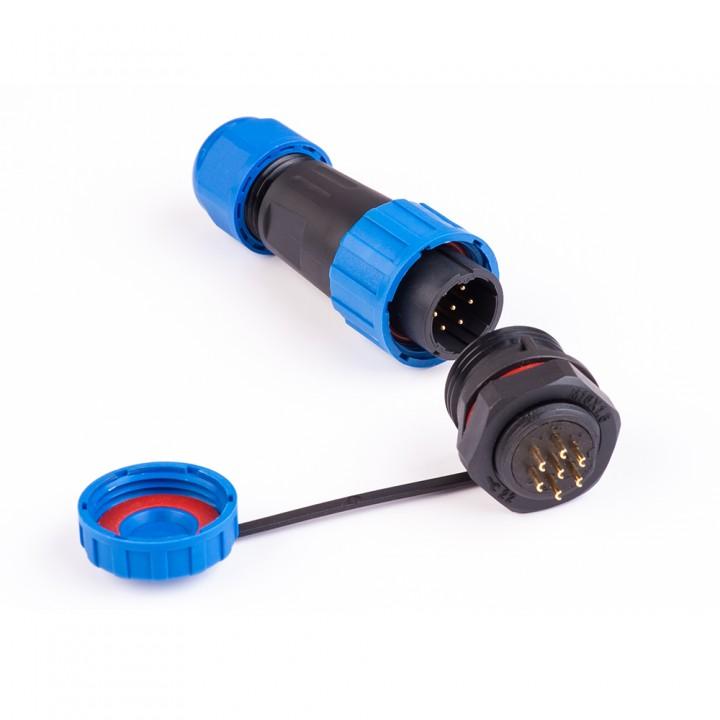 Коннектори вологозахищені швидкороз'ємні SP-16 7pin (роз'єми герметичні)