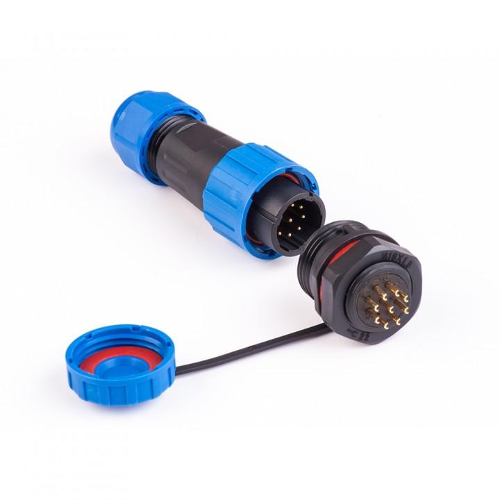 Коннектори вологозахищені швидкороз'ємні SP-16 9pin (роз'єми герметичні)