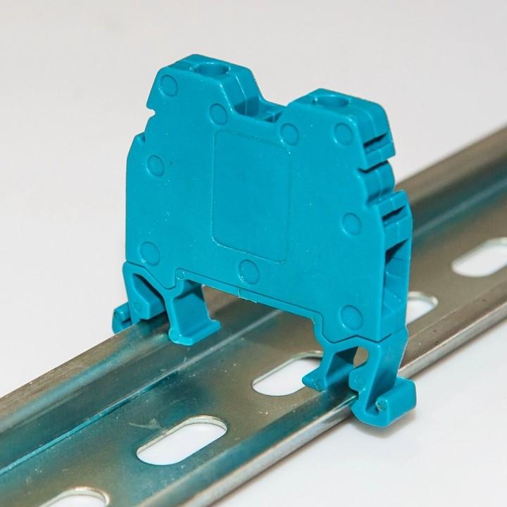 Клемма на DIN-рейку CT 10 мм², синя