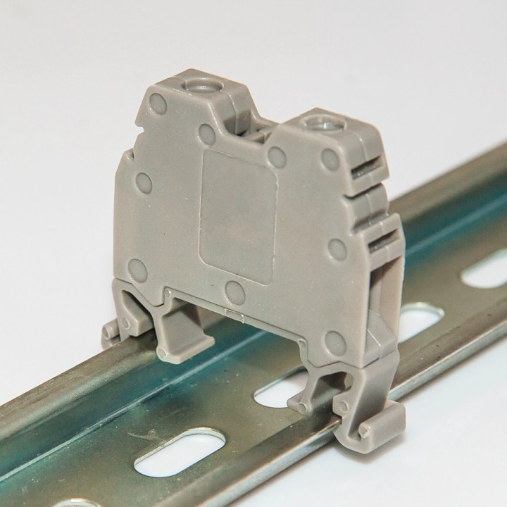Клемма на DIN-рейку CT 6 мм², сіра