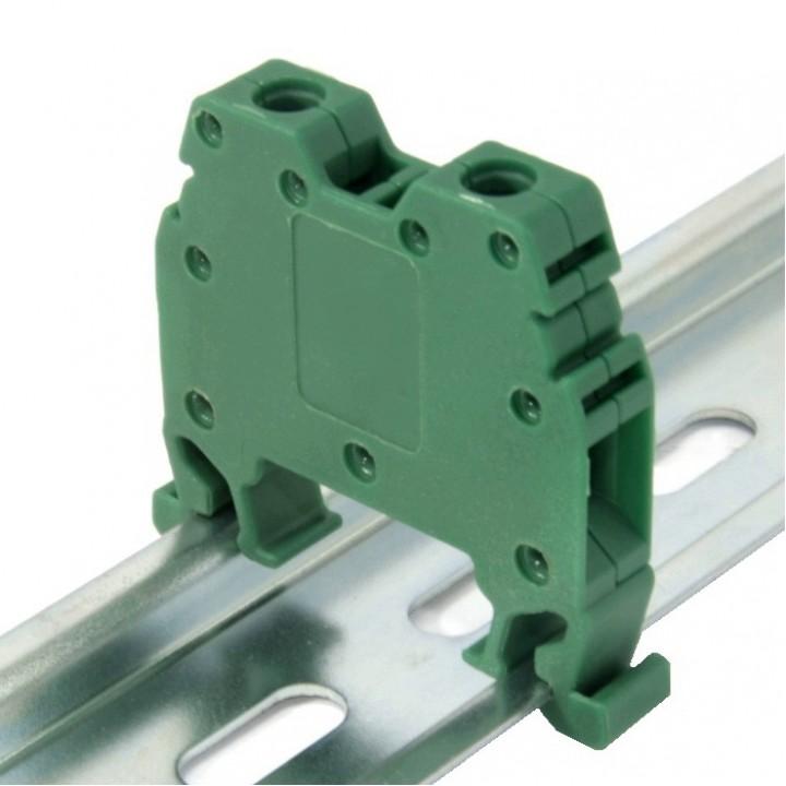 Клемма на DIN-рейку CT 4 мм², зелена