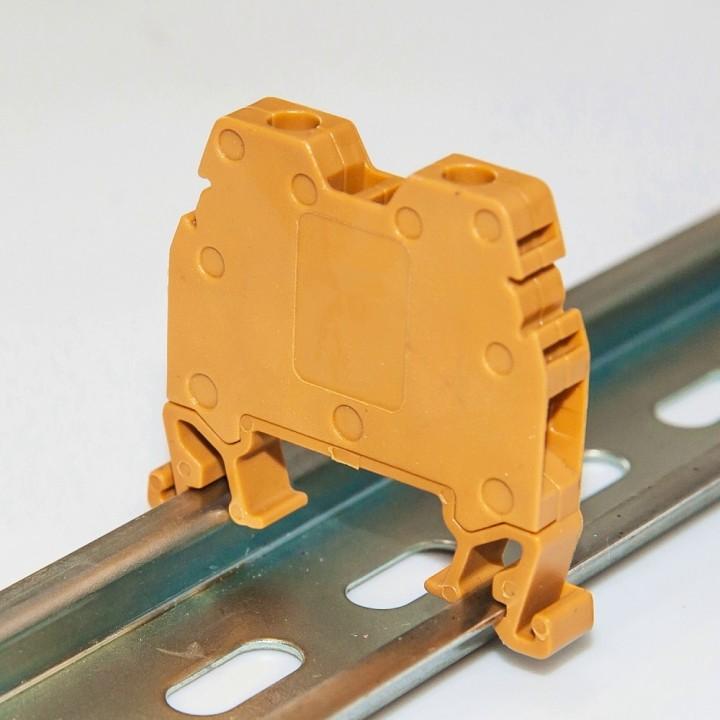 Клемма на DIN-рейку CT 4 мм², жовта
