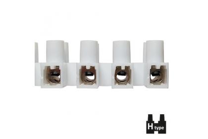 Клемні колодки  з притискними пластинами Н-типу самозагасаючі / гвинтові ізольовані затискачі з пластинами