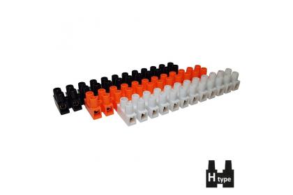 Клемні колодки Н-типу серії РР самозагасаючі / гвинтові ізольовані затискачі термостійкі РР